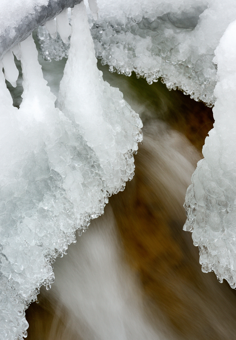 Ice Flow on Slippery Rock Creek (Western PA)