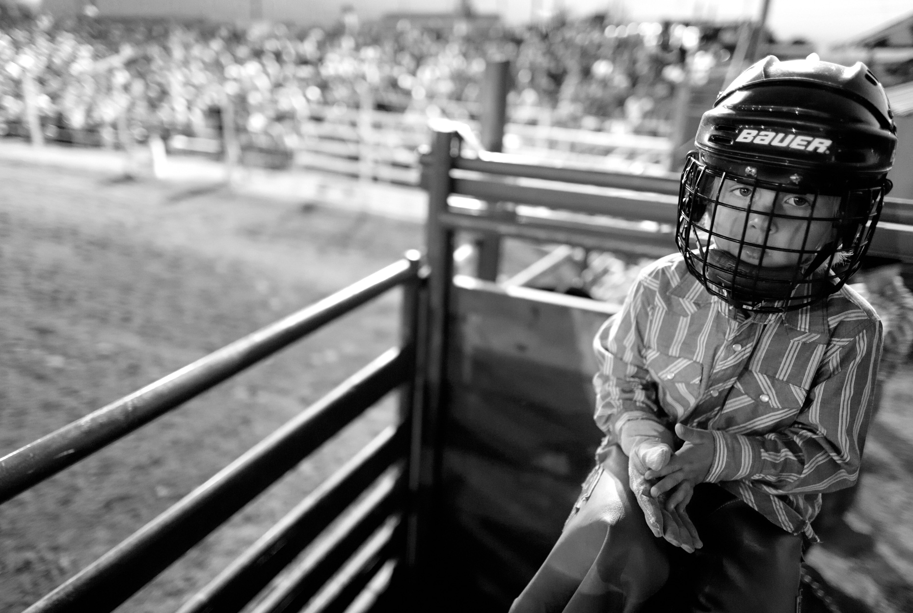 Four Year Old Bull Rider (North Washington Rodeo) - West Sunbury, PA