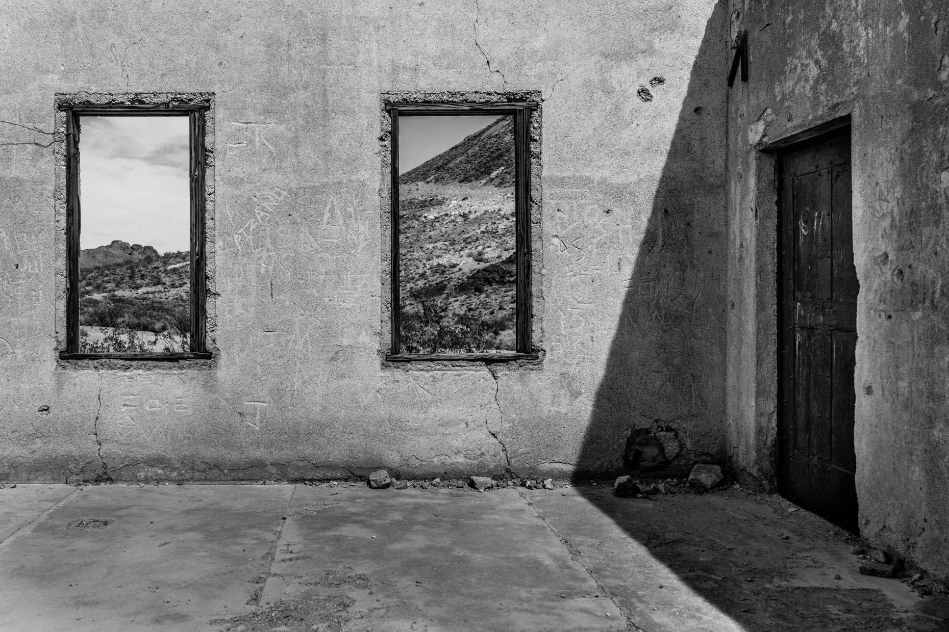 """Light & Shadow"" - Old Rhyolite Prison (Beatty, Nevada)"