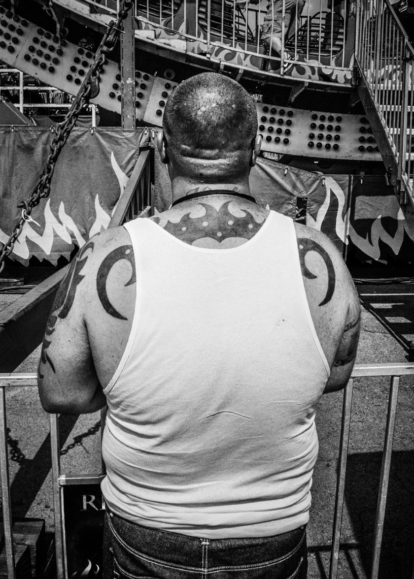 Tattooed Man - NY State Fair (35mm Film)