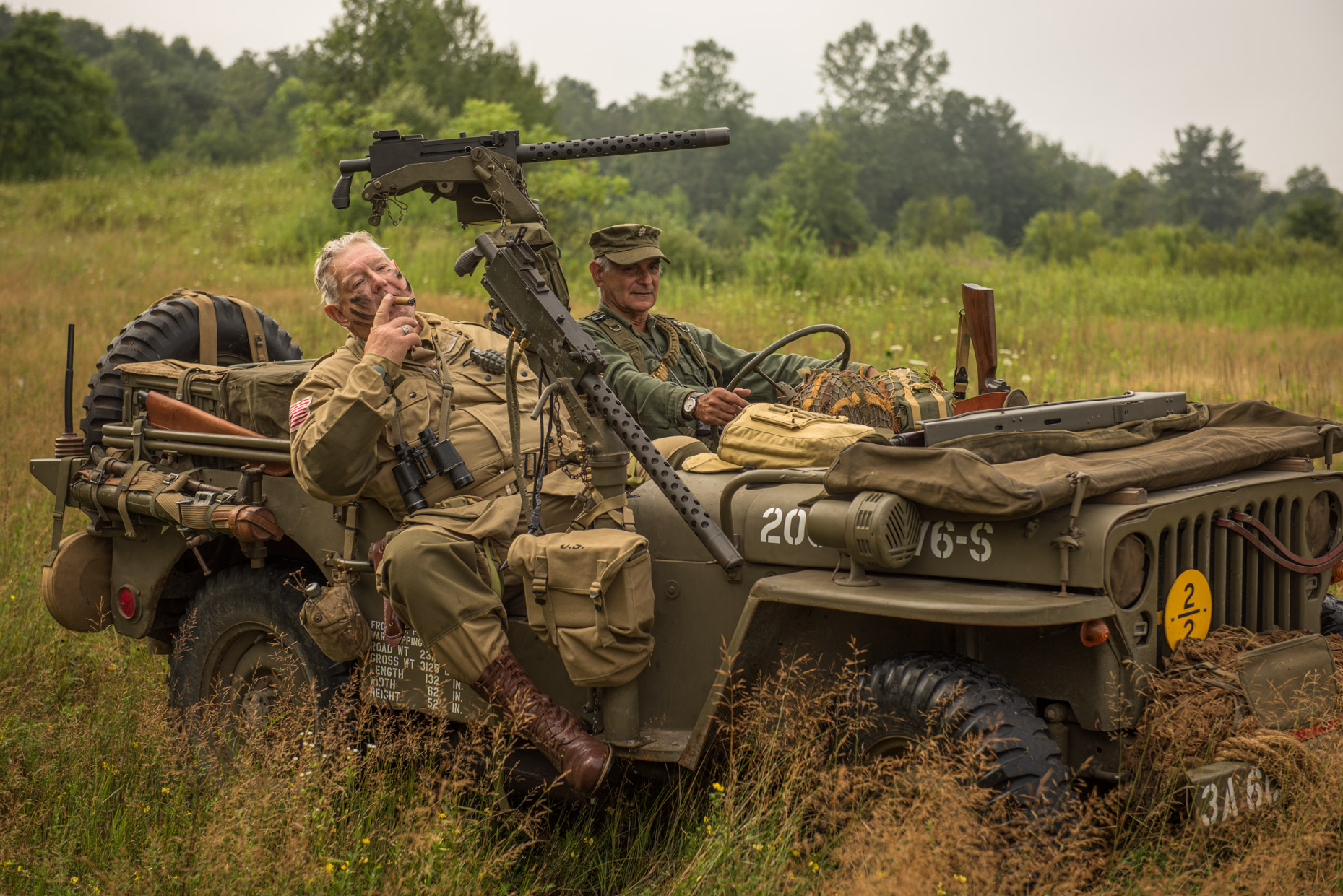 General Patton Impersonator at WWII Reenactment